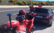 Detenido en Navarra por circular a 209 km/h, sin ITV, y dar positivo en todas las drogas del test