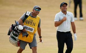Dos 'caddies' guipuzcoanos hacen oficio en el Campeonato de la PGA