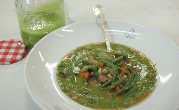 La sopa al pesto del Arima
