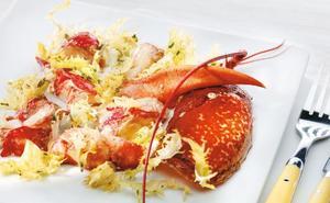 Receta de ensalada de bogavante y hongos de Martín Berasategui