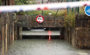 Registros de lluvia de casi 200 litros provocan inundaciones en comarcas del este de Gipuzkoa