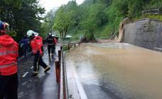 La lluvia caída en las últimas horas en Gipuzkoa ha provocado diversos incidentes