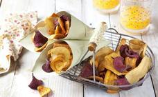 Los chips vegetales no son más sanos que las patatas fritas
