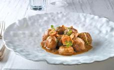 Receta de albóndigas en salsa de hongos de Martín Berasategui