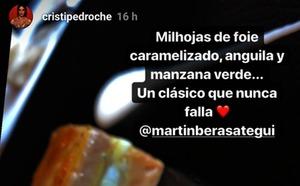 Cristina Pedroche visita San Sebastián y disfruta de los manjares de Martín Berasategui