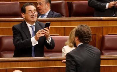 Señal televisiva del pleno de constitución de las Cortes