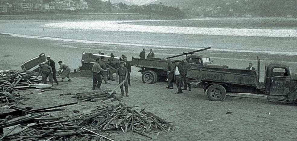 1969 | Recogidos tres camiones con 'galipot' en Ondarreta