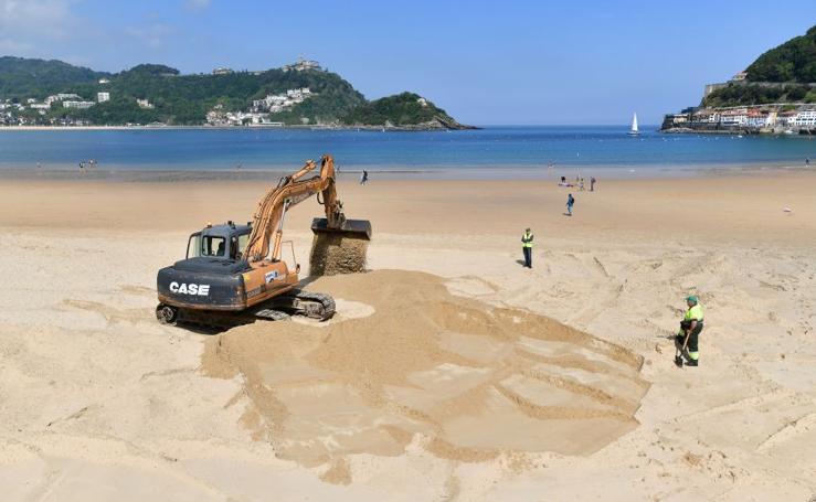Comienzan los trabajos para acondicionar las playas