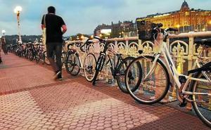 Donostia, ejemplo del uso saludable de la bici