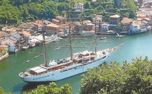 El velero 'Sea Cloud II' inaugurará el miércoles la temporada de cruceros en Pasaia