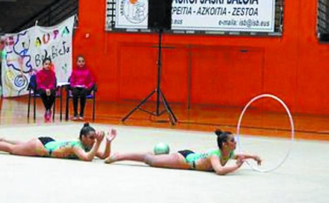 La gimnasta Nahia Odriozola, campeona de Gipuzkoa amateur