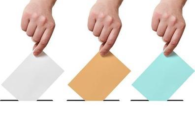 Papeletas de colores, listas cerradas... guía para 'enfrentarse' a las tres urnas este domingo