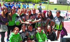 Las atletas del club Goierri Garaia, terceras de Gipuzkoa por equipos