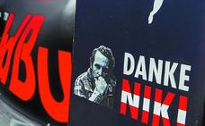 La fiesta da paso a la tristeza tras la muerte de Lauda