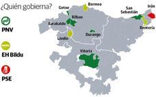 Los diez frentes de la batalla electoral vasca: Donostia, Irun, Errenteria...