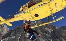 Rescatan a una montañera de Bilbao herida en Picos de Europa