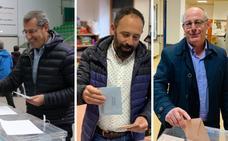 Elecciones en Gipuzkoa: Los candidatos guipuzcoanos votan mirando al futuro
