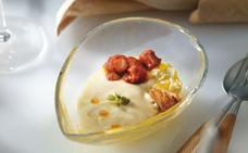 Receta de huevos con txistorra y patata de Martín Berasategui