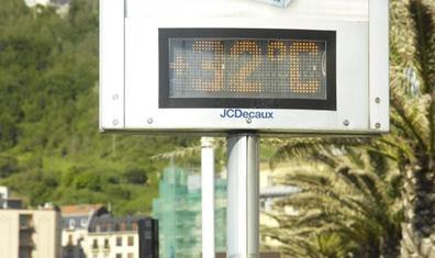 El termómetro llega a 32 grados en Donostia