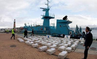 A prisión los siete tripulantes del barco de Ondarroa que transportaba 2.500 kilos de cocaína