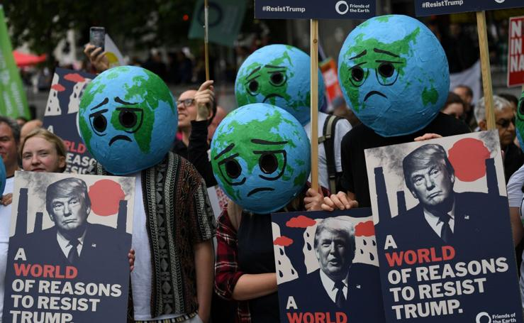 Concentración anti-Trump en Londres