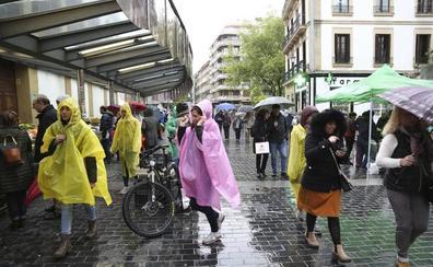Gipuzkoa ha acumulado precipitaciones de hasta 11,8 l/m2 en una hora