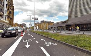 Las bicis dejarán de circular por la acera del Kursaal a final de mes con el nuevo bidegorri