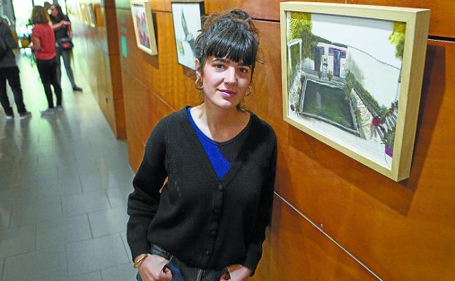 Sandra Garayoa expone la historia 'Sustraiak' a través de diez ilustraciones