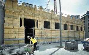Arenisca de Burgos para la nueva Casa de Baños de la plaza Arroka en Donostia