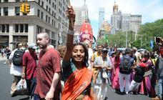 Hare Krishna por la Quinta Avenida