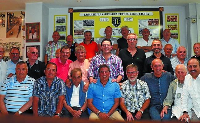 Veteranos jugadores del Lasartearra de Regional celebraron su fiesta anual