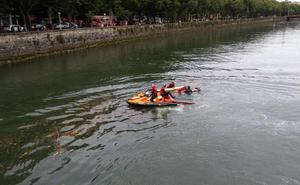 Rescatan a un hombre de aguas del Urumea en Donostia