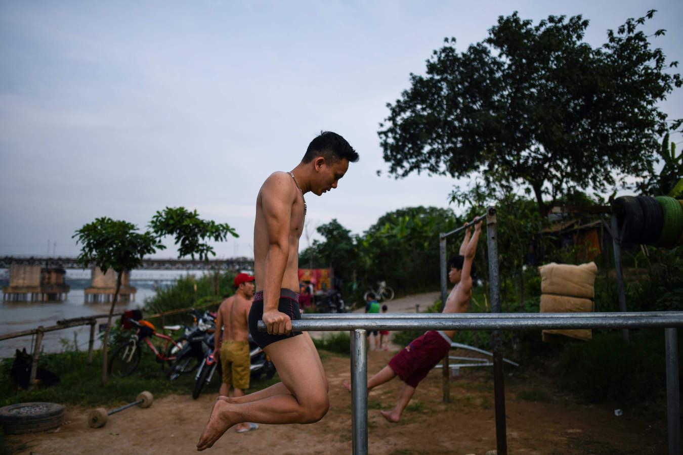 Entrenando al aire libre