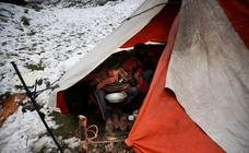 Nieve en la Cachemira india
