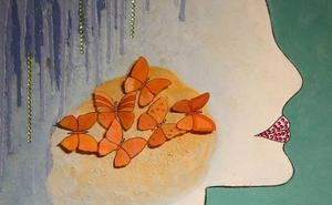 Nisa Goiburu pinta el mar y la mujer en 'Aquazul'