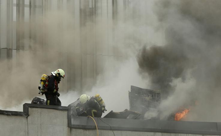 Incendio en el centro cultural Lekuona, en construcción en Errenteria