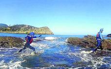Aventura entre agua y rocas