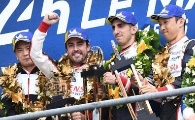 La suerte se alía con Alonso para coronarle como campeón del mundo en Le Mans