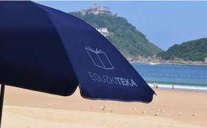 Abre la Eguzkiteka en el voladizo de la playa de La Concha