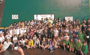 La cantera del ajedrez guipuzcoano celebró su gran día en Azkoitia