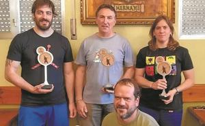 Mikel Arbona y Ane Galarraga, los mejores lanzadores de barra vasca