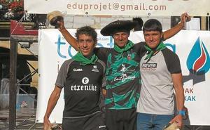 Joxe Munarriz inaugura el palmarés de la carrera de montaña de Lesaka