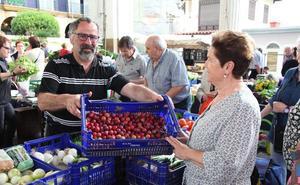 Manzana de San Juan y ciruela, puntuales en el mercado de Ordizia