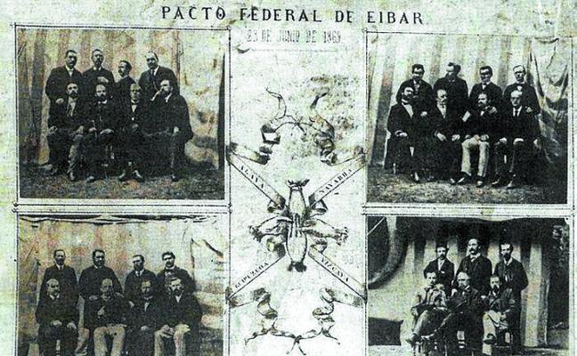 Los actos del pacto federal de Eibar se inician con un documental