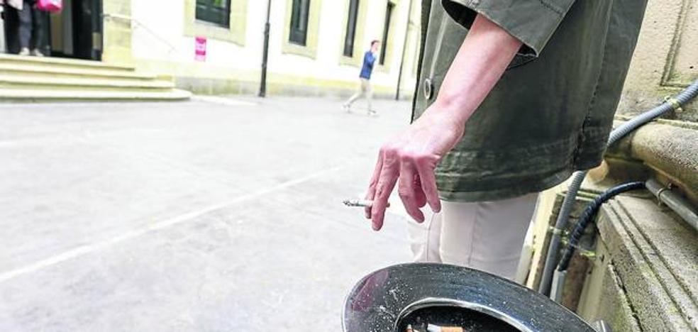 El Parlamento Vasco prohíbe fumar en sus accesos por «imagen»