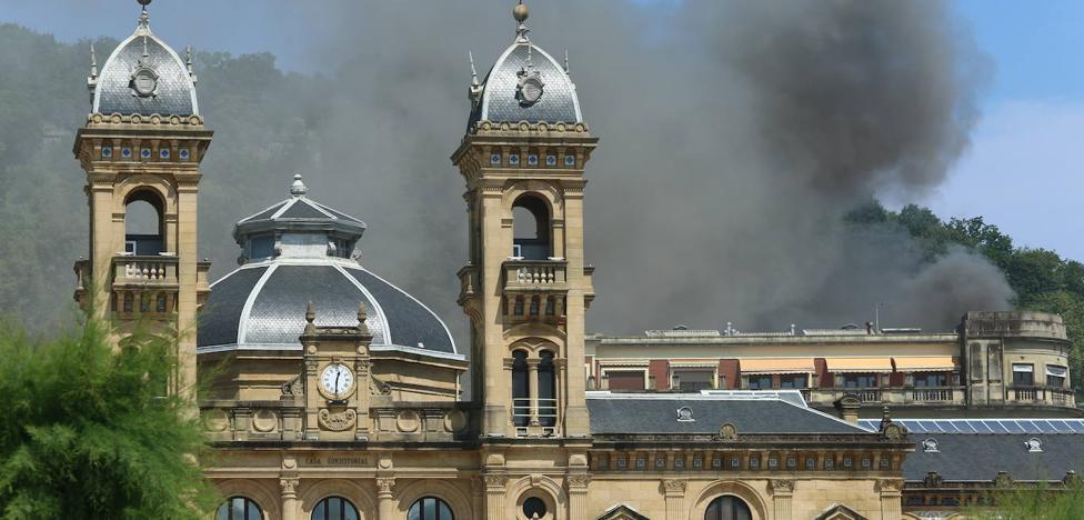 Susto en la Parte Vieja de San Sebastián por un incendio