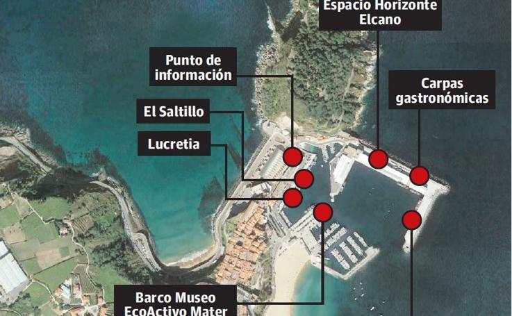 Consulta la ubicación de las actividades en el Puerto de Getaria