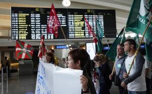 Los empleados de Loiu vuelven a la huelga tras fracasar la negociación
