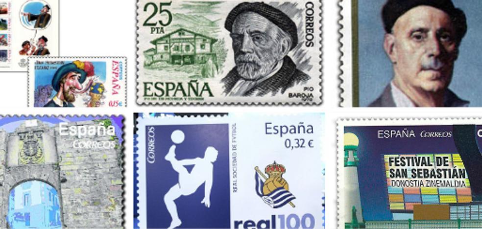 Gipuzkoa en los sellos postales