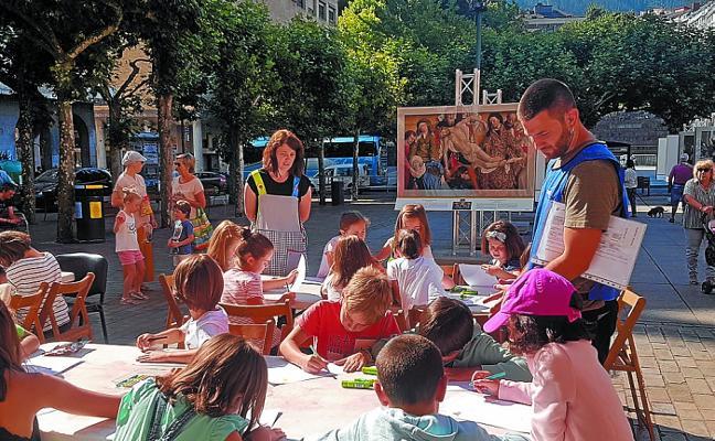 Los niños dibujan 'Las Meninas' de Velázquez